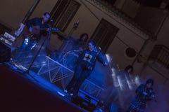 Montemarano vinfestival 2015 Oktober 17 konsert i den huvudsakliga fyrkanten Arkivfoto