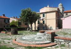 Montemarcello square. View of the square in Montemarcello Royalty Free Stock Photography