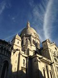 Montemarte. Paris monument white clouds Royalty Free Stock Photos