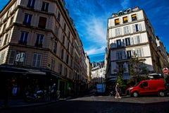 Montematre地区在巴黎 免版税库存照片