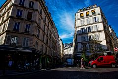 Montematre area in Paris. Montmartre area near the Sacre Coeur basilica in Paris, France Royalty Free Stock Photo