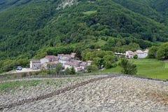 Montemonaco Altino, krajobraz Zdjęcie Stock