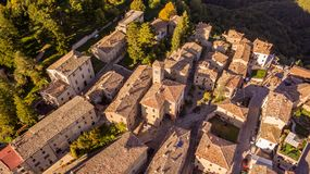 Free Montemonaco And Sibillini Mountains From Above Royalty Free Stock Photo - 161627605