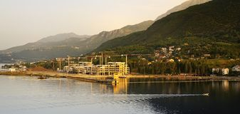 Montenegr sun rise Stock Photography