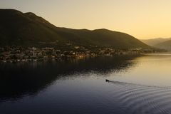 Montenegr sun rise Royalty Free Stock Photography