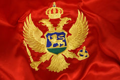 Montenegrian flag 4 Royalty Free Stock Image