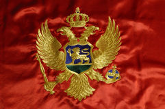 Montenegrian flag 6. Montenegrian flag the new one Royalty Free Stock Photography