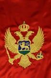 montenegrian flagga royaltyfri bild