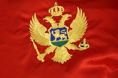 montenegrian flagga 2 royaltyfria bilder