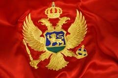 montenegrian flagga 4 royaltyfri bild