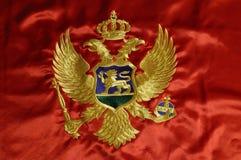 montenegrian flagga 6 royaltyfri fotografi
