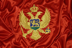 montenegrian flagga 8 Royaltyfri Bild
