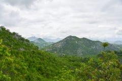 Landscape of Montenegro. Mountains, clouds and Skadar lake, Montenegro Stock Photos