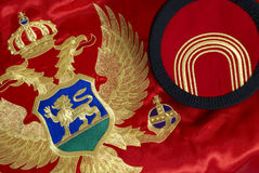 Montenegrin flag and cap Royalty Free Stock Photos