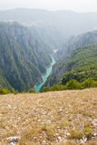 Montenegrin mountains. The canyon of Komarnica River in Montenegro Stock Images