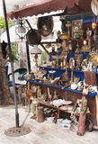 Montenegrin souvenirs. A showcase of traditional Montenegrin gifts and Souvenirs Royalty Free Stock Photo