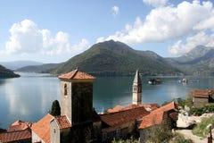 montenegro老perast城镇 库存图片