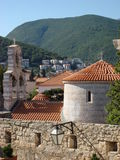 Montenegro. Summer in Montenegro. Budva. Adriatic sea Stock Photos