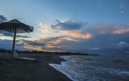 Adriatic Sunrise. Montenegro Adriatic beach coast sunrise royalty free stock image