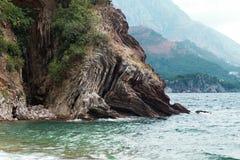 Montenegro, Adriatische overzees Stock Foto's