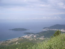 Montenegro Adriatiskt hav Royaltyfria Foton