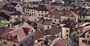 Montenegro: Azoteas de Kotor Fotos de archivo libres de regalías