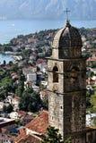 Montenegro: Azoteas de Kotor Imagenes de archivo