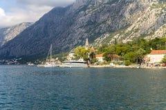 Montenegro. Bahía de Kotor Fotografía de archivo