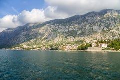 Montenegro. Bahía de Kotor Foto de archivo libre de regalías
