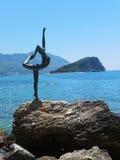 Montenegro. Ballerina dancing symbol of Budva, Montenegro Stock Images