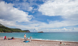 Montenegro, beach, Jun 2014 Stock Photography