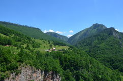 Montenegro. Beautiful views of the mountains of Montenegro near the Tara River stock photography