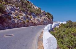 montenegro bergväg Fotografering för Bildbyråer