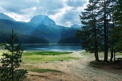 Montenegro, Black lake. Beautiful views of black lake Stock Photo
