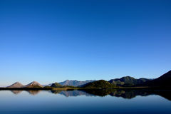 Montenegro, blauwe hemel Royalty-vrije Stock Foto