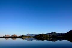 Lake Skadar, Montenegro, blue sky and waters Royalty Free Stock Photo