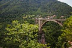 Montenegro bridżowy Dzhurdzhevicha Obraz Royalty Free