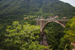 Montenegro, the bridge Dzhurdzhevicha Royalty Free Stock Image
