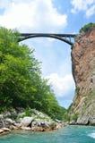 Montenegro bro över den Tara floden Fotografering för Bildbyråer