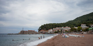 Montenegro, Budva beach, Jun 2014 Stock Image