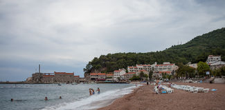Montenegro, Budva beach, Jun 2014 Royalty Free Stock Photo