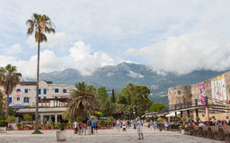 Montenegro, Budva beach, Jun 2014 Royalty Free Stock Images