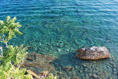Montenegro Budva island beach. Montenegro, Budva - a view of the sea from the castle Royalty Free Stock Images