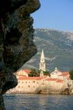 Montenegro. Budva. Mar de adriático imagem de stock royalty free