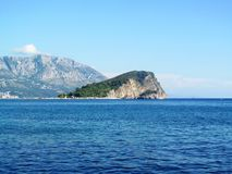 Montenegro, Budva, St. Nicholas island. Adriatic sea, Montenegro, Budva, St. Nicholas island, summer vacation at sea Royalty Free Stock Photography