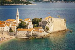 Montenegro Budva stary miasteczko Zdjęcia Stock