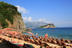 Montenegro. Budvah coast beach Mediterranean vacation paradise Royalty Free Stock Photo