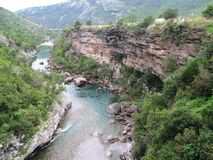 Montenegro, the canyon of the river Moraca Stock Photos