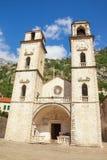 montenegro Cathédrale de saint Tryphon dans la vieille ville de Kotor photos libres de droits