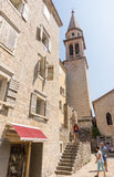 Montenegro: cathedral St. Ivan in the old Budva Royalty Free Stock Images